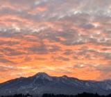 妙高山と夕焼け