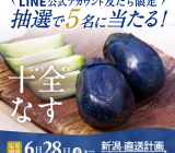 【黒十全茄子漬プレゼント!】LINE公式キャンペーンのお知らせ