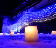 幻想的な世界を演出する灯の回廊(上越市安塚区)