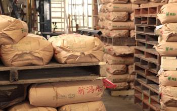 新米時期には倉庫は米で埋まる