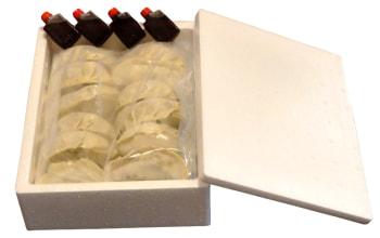 おいしさを閉じ込めた冷凍パックでお届けします。