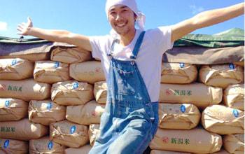 米農家としては8代目となる大塚 博幸さん。爽やか。