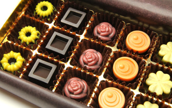 5種類の一粒チョコ