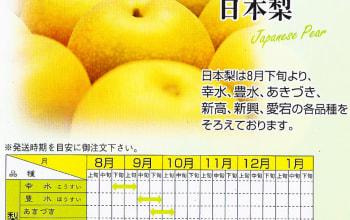 日本梨の出荷時期