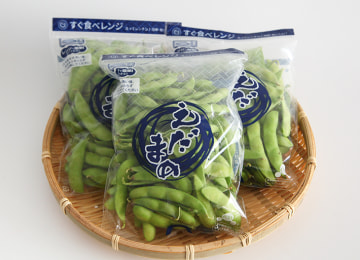 朝採りの鮮度を保つ枝豆パックでお届けします