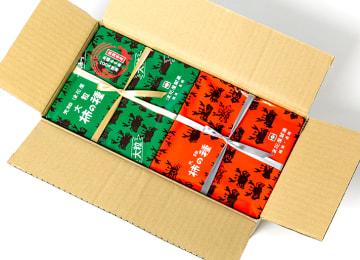 梱包イメージ(外箱+缶に包装紙)