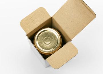 梱包イメージ(内箱と瓶)