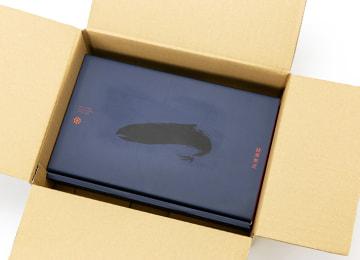 化粧箱入の梱包イメージ(外箱を開いた状態)