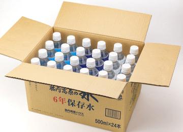 梱包イメージ(水 500mlボトル 24本入り)