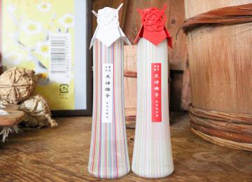 天神囃子 紅白アートボトルセット(特別純米・特別本醸造)