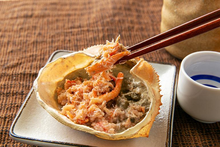 日本海産 紅ずわい かに味噌甲羅盛り – 株式会社にこっと