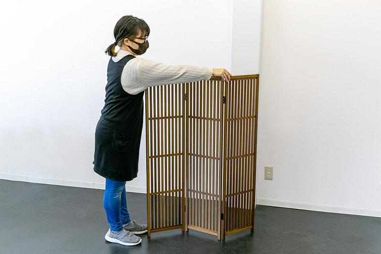 組子細工の屏風 – 大湊文吉商店