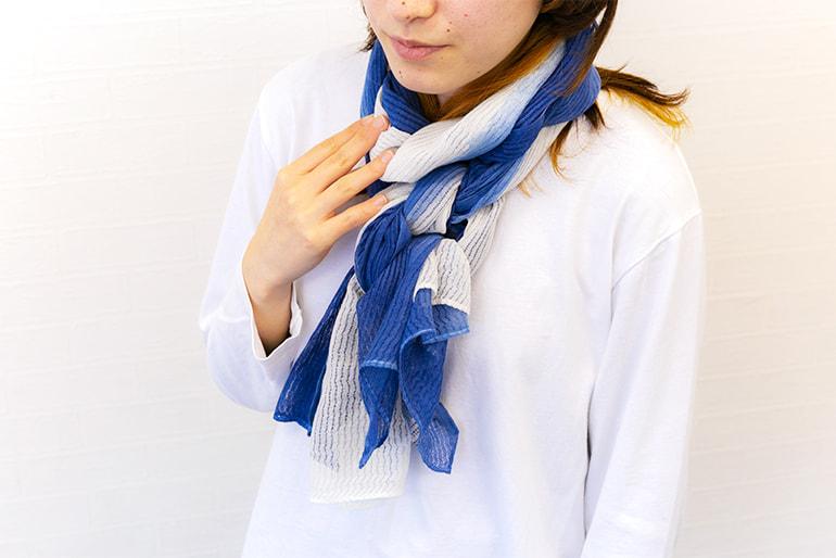天然藍染ストール – 藍・染織工芸 マーチファッション