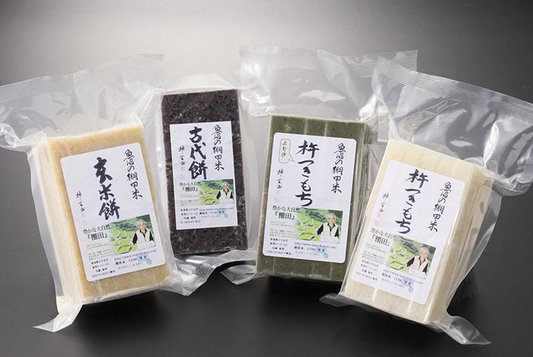 魚沼産こがねもち米の杵つき餅(4種) – 佐藤農場