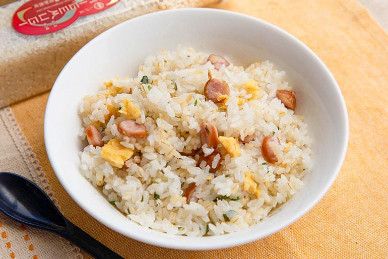新潟県産米ともち麦のブレンド米(コシヒカリ・新之助) – 重野農産