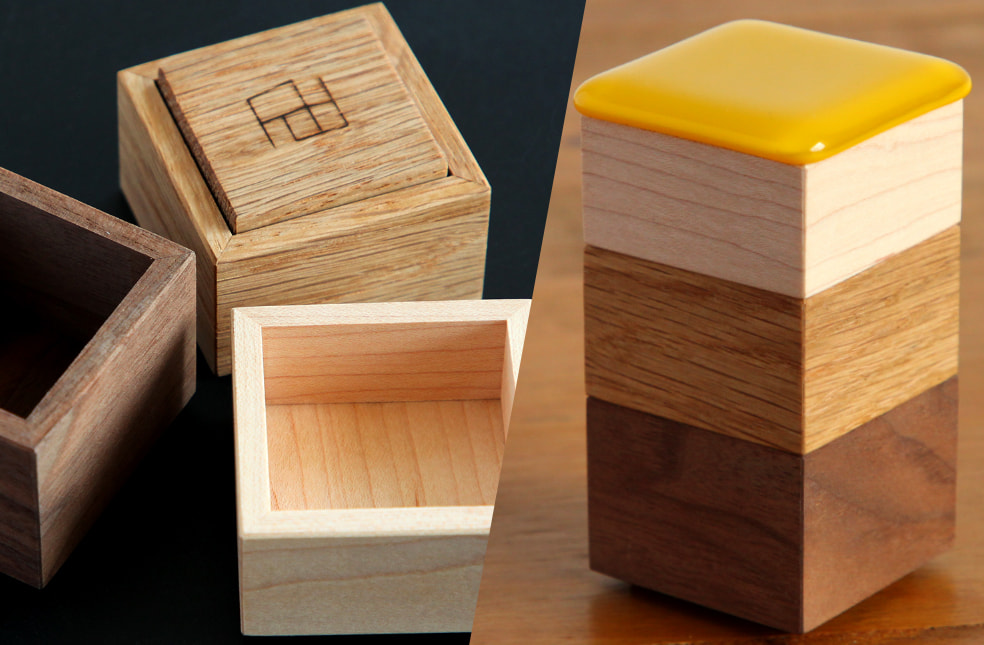 falaj design department 『木と硝子の小物入れ』