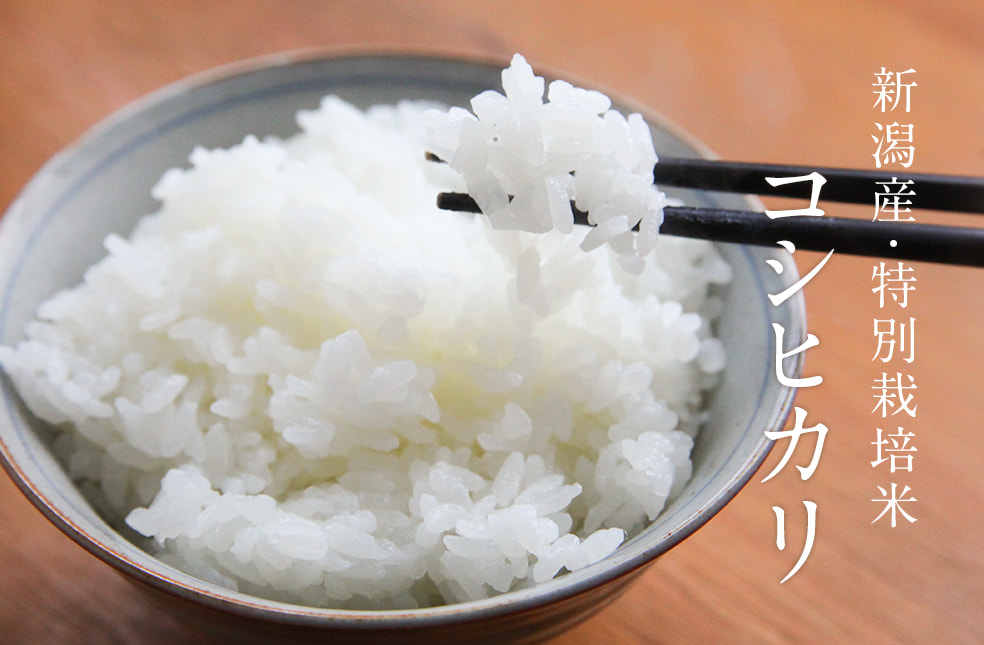 30年度米 新潟産コシヒカリ(特別栽培米)