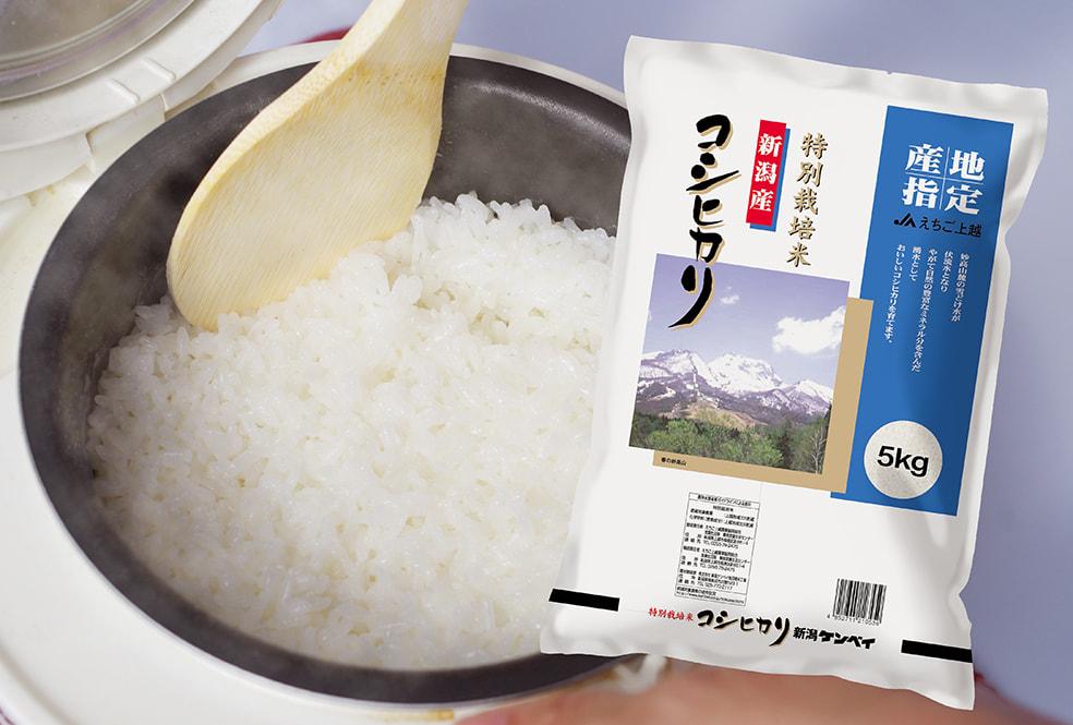 令和元年度米 新潟産コシヒカリ「JAえちご上越」(特別栽培米)