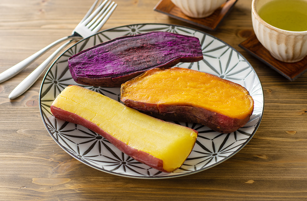冷凍焼き芋(紅はるか・ハロウィンスイート・パープルスイートロード)
