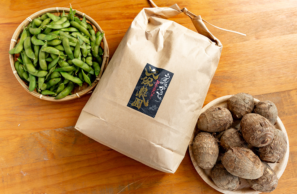 久保農園のコシヒカリと旬の野菜セット