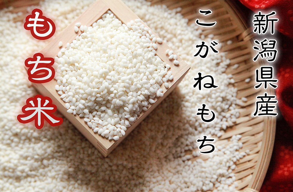 令和2年度 新潟産こがねもち(もち米・特別栽培米)