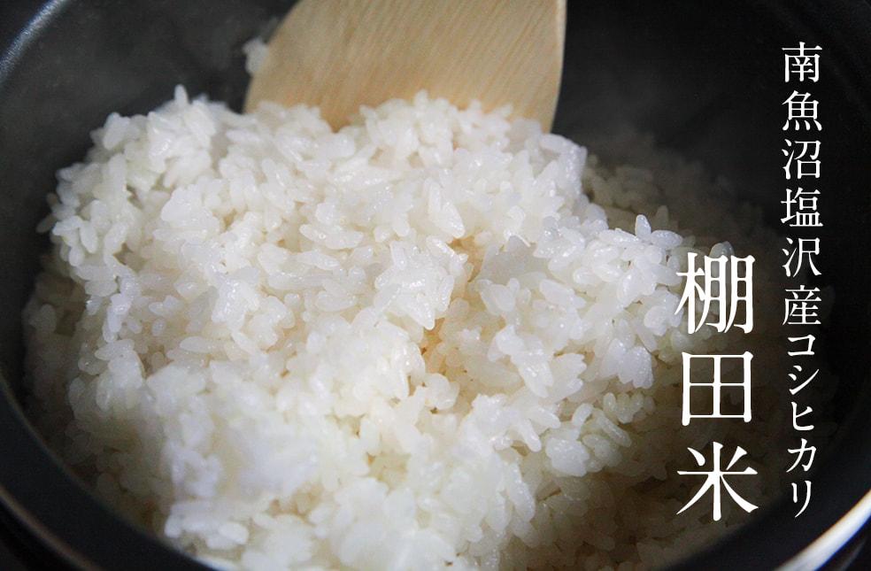 令和元年度米 南魚沼 塩沢産 棚田米 コシヒカリ(特別栽培米)