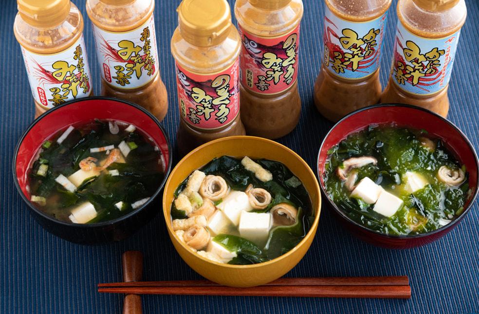 味噌屋さんのみそ汁の素シリーズ