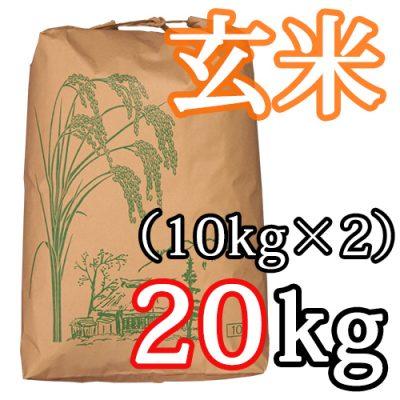 新発田産コシヒカリ(特別栽培米)玄米20kg