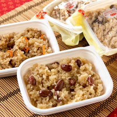 自家栽培米使用 醤油・五目おこわ