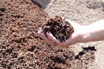 1.長年研究を重ねた独自ブレンドの自家製堆肥