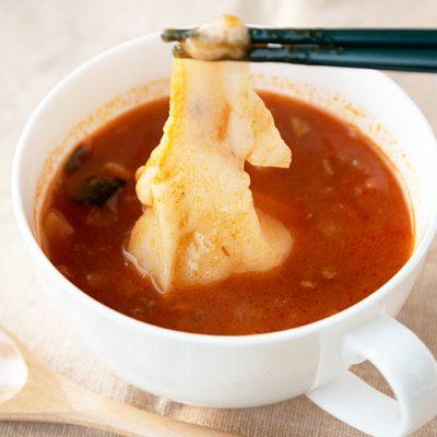 スープに入れれば簡単朝食の出来上がり