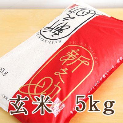 新潟産 新之助 玄米5kg
