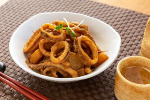 2.イカ肝の味噌煮