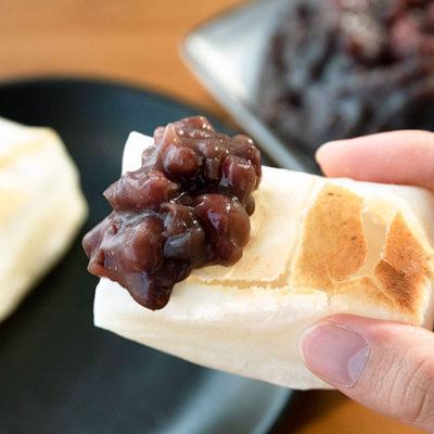 ひかえめの甘味がお餅の風味とマッチ