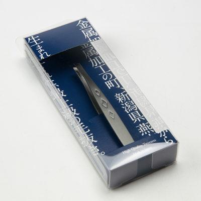上質毛抜き ダイヤ(酸化発色)ブラック ヘアライン・先端斜め型
