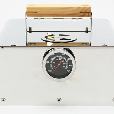 オーブン&スモーカー裏面の温度計