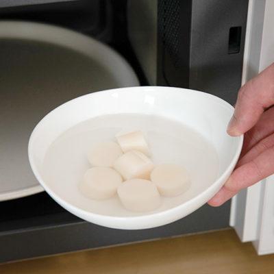 電子レンジで温めるだけの新しい白玉製品