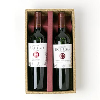 越後ワイン メルロー(赤)・カベルネソーヴィニヨン(赤)セット