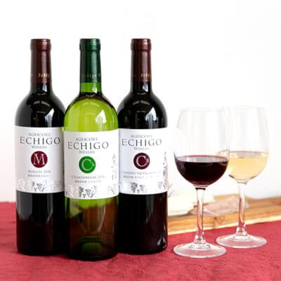 越後ワイン メルロー・カベルネ ソーヴィニヨン・シャルドネ