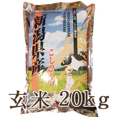 越後金四郎コシヒカリ玄米20kg