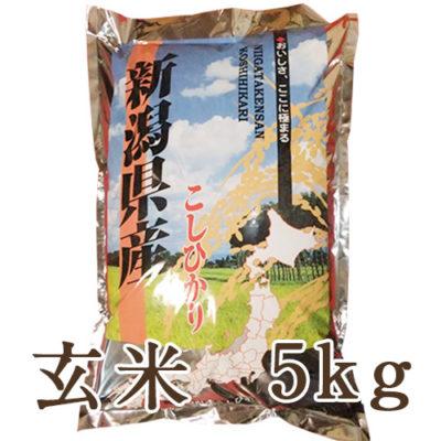 【定期購入】越後金四郎コシヒカリ玄米5kg