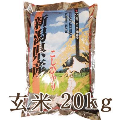 【定期購入】越後金四郎コシヒカリ玄米20kg