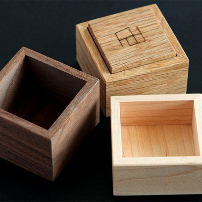 水洗い可能の天然木の小箱♪※食洗機は不可