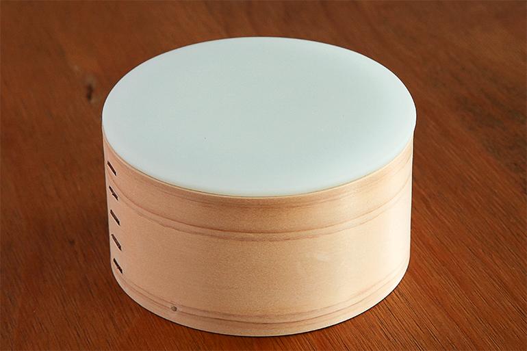 2.硝子蓋 オフホワイト 小(鍔なし)