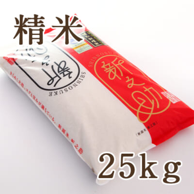 新潟産 新之助(特別栽培米)精米 25kg(5kg×5)
