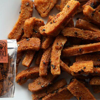 『辛味噌ラスク』ピリ辛の味噌味はおつまみのお供にもおススメです♪