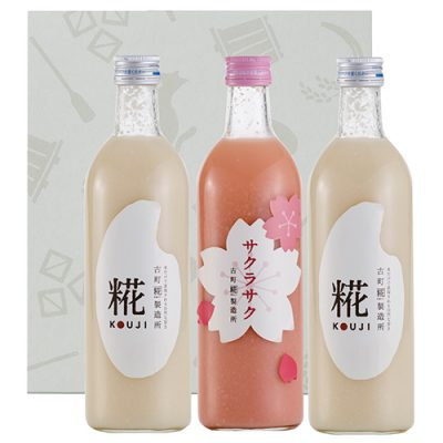 【春季限定】3本入りギフトセット(サクラサク×1、糀×2)