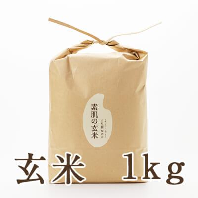 新潟産 ミルキークイーン「素肌の玄米」1kg