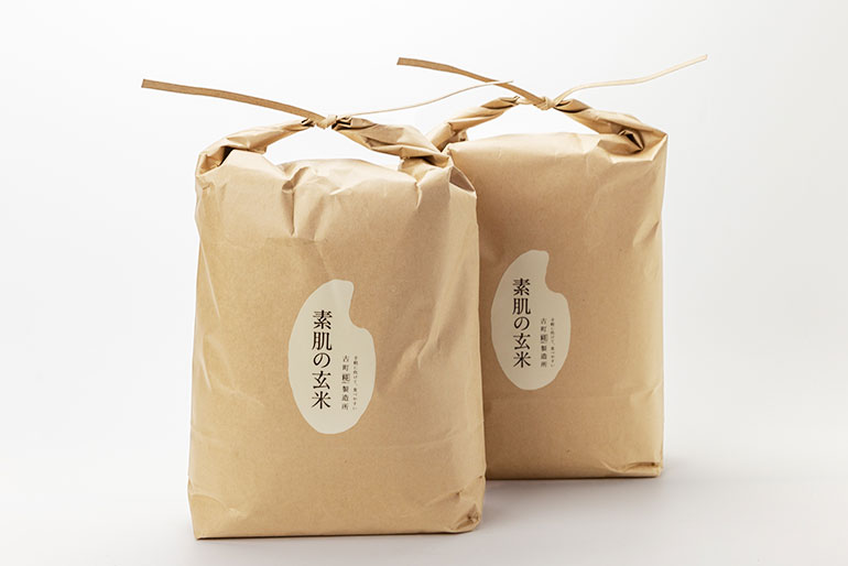 素肌に潤いが浸透するように、栄養が吸収される「玄米」