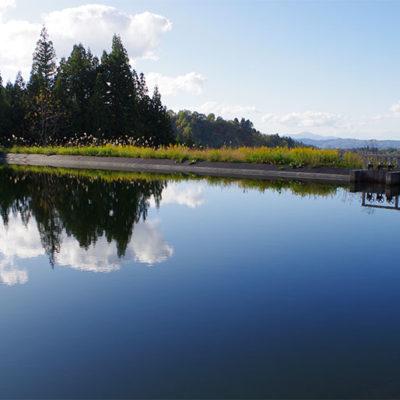 雨量が少ないときのために独自の貯水池を整備